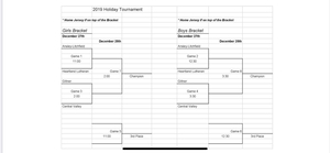 Holiday Tourney Bracket