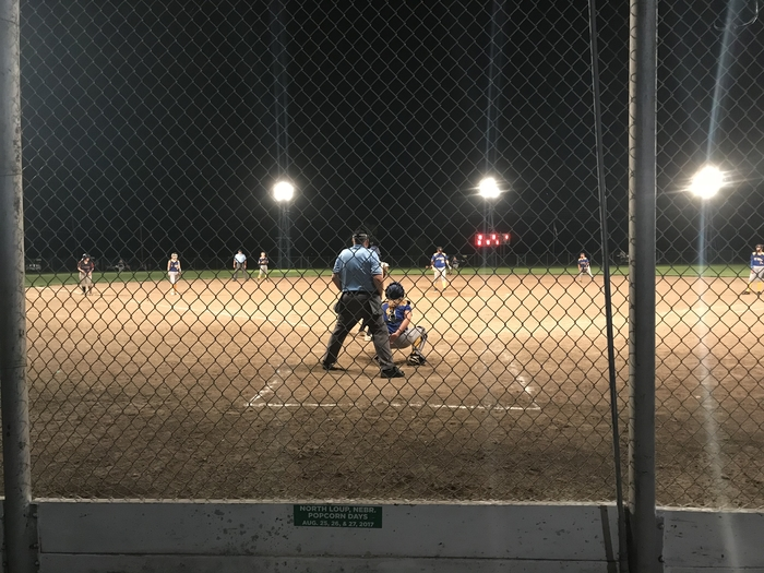 Softball under the lights