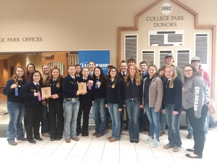 21 CV FFA competing at District Career Development Events