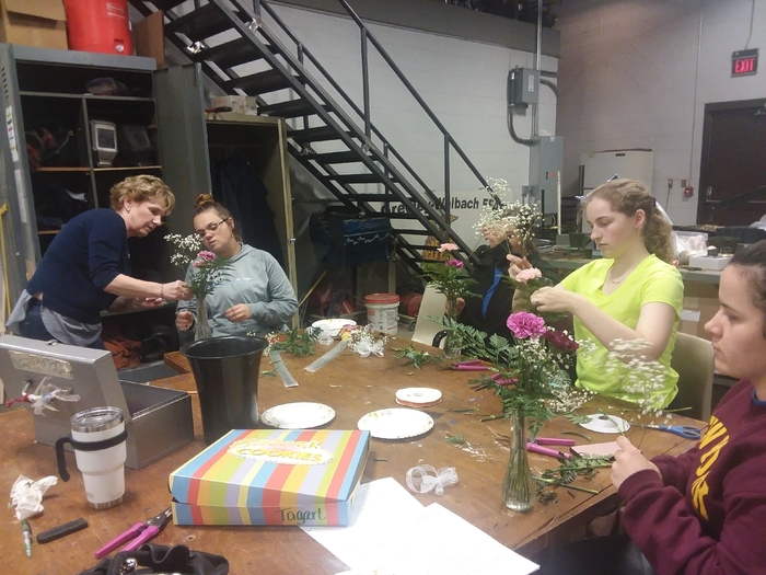 perfecting our bud vases