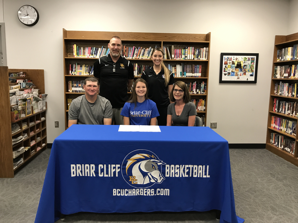 Central Valley senior Brylee Barr signed with Briar Cliff college where she will be playing basketball.