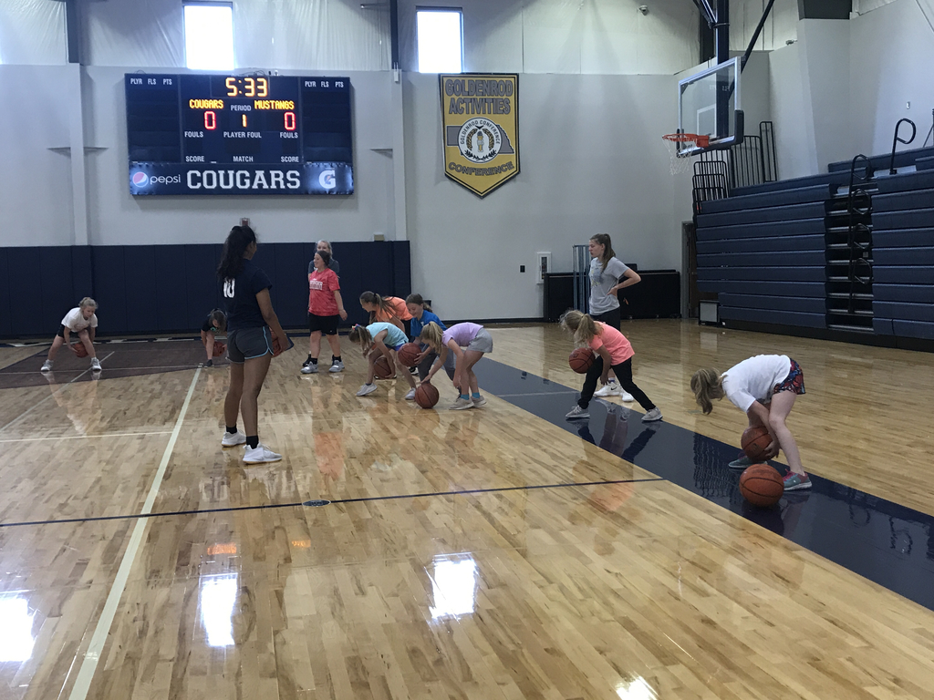 Youth working on ball handling skills