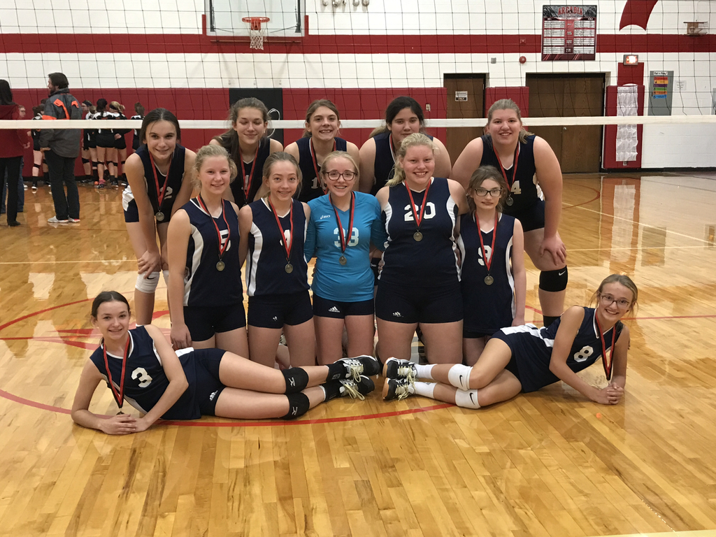Lady Cougars take 1st at the Jr. High tournament!