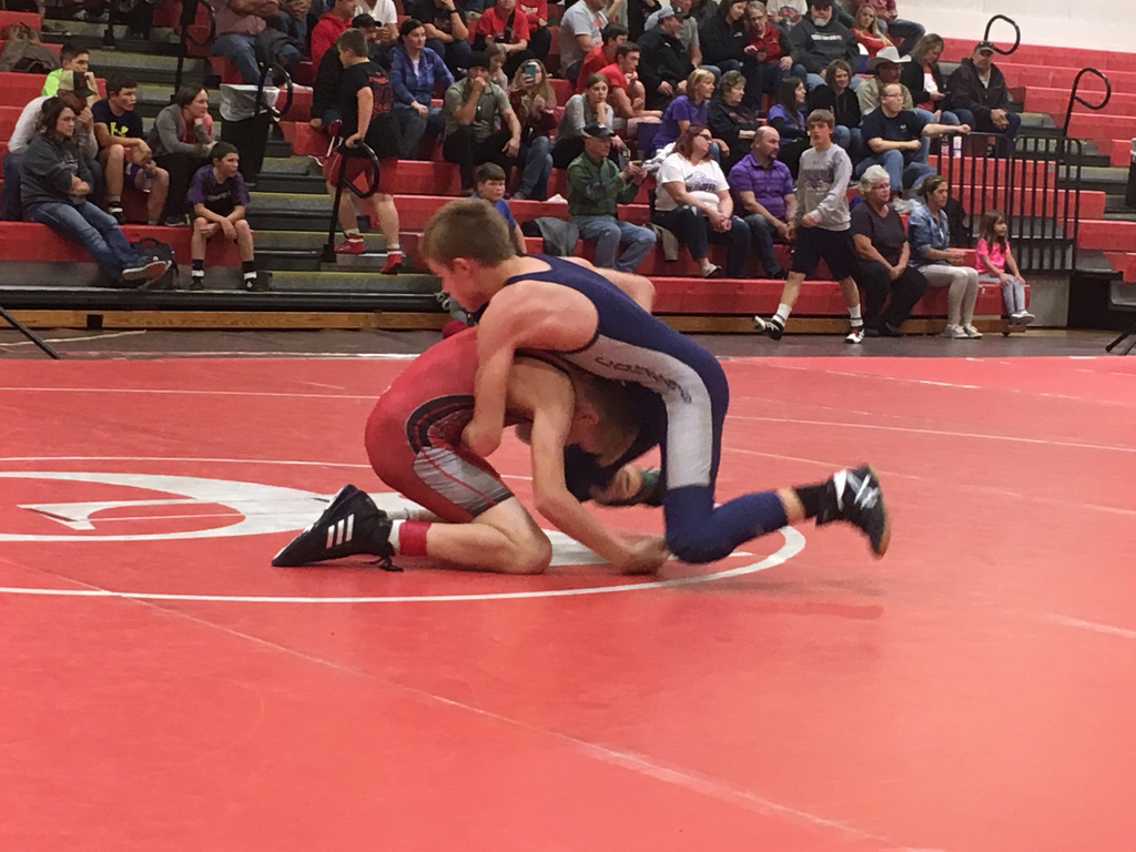 Taylor battling his opponent!