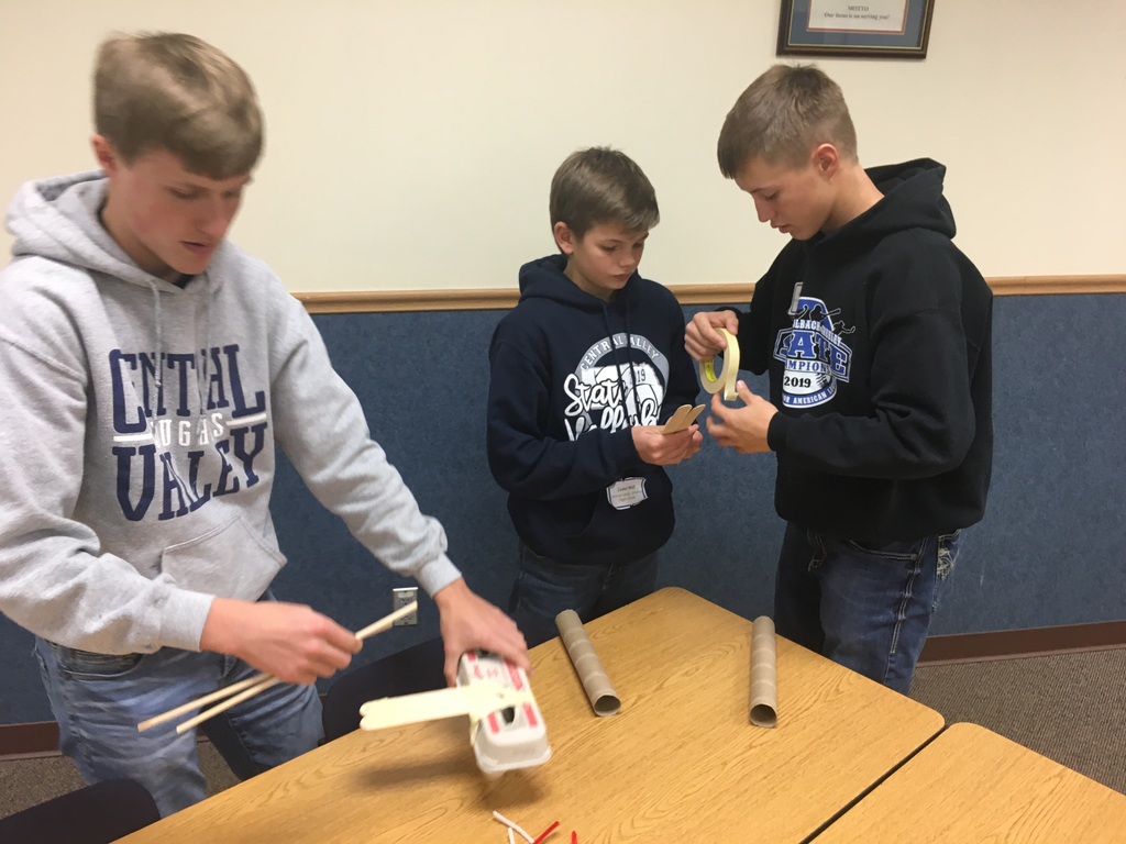Carson, Zaden & Kyle working on their plane to help breakdown plastic pollution in our oceans!