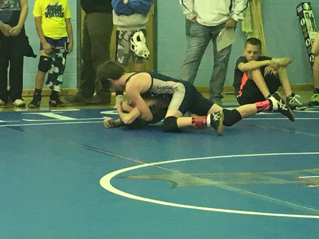 Cannon pinned his first opponent!
