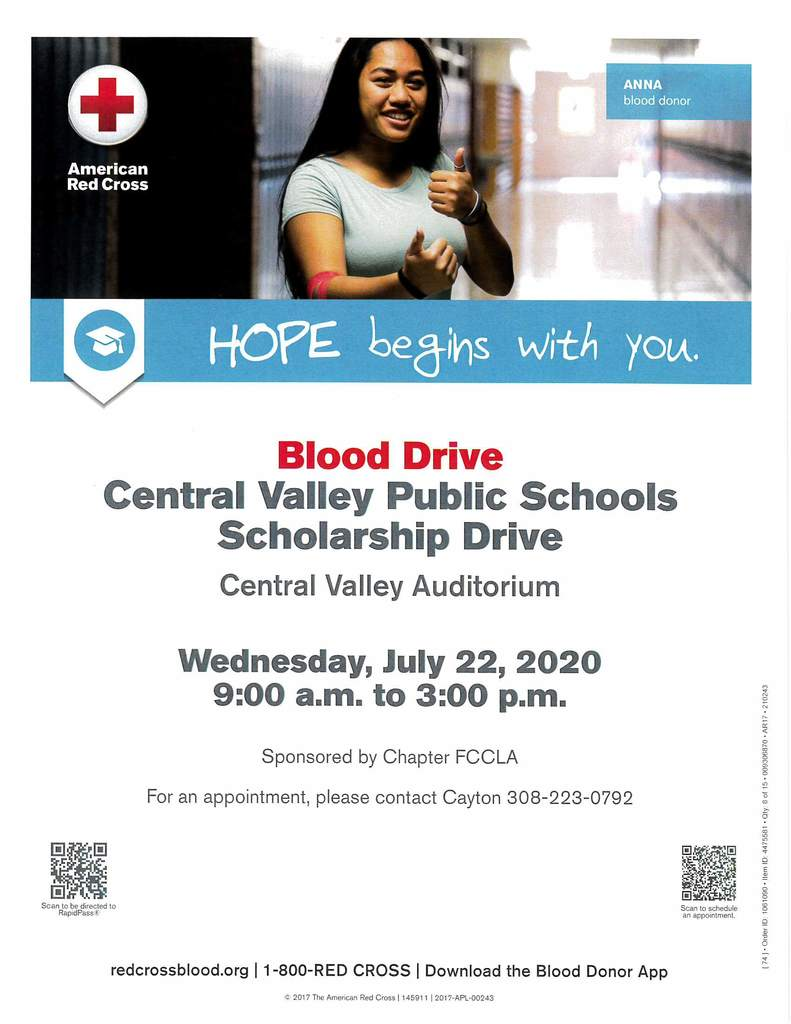 CV Scholarship Blood Drive